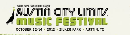 The Austin City Limit Music Festival lineup has been announced and it is a good one.  The festival will be held October 12-14, 2012 at Zilker Park in Austin, TX. Check out the web site for...
